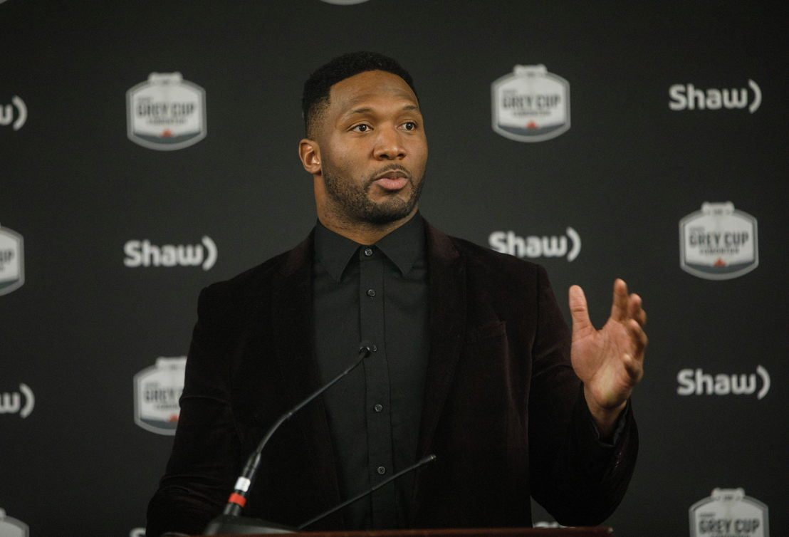 Rolly Lumbala of the BC Lions. Photo credit: Jason Franson/CFL.ca