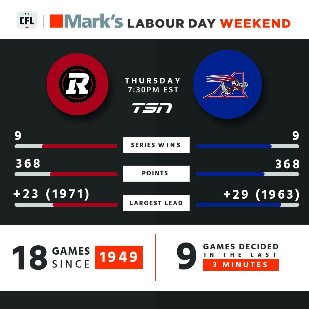 Ottawa at Montreal on Thursday 7:30pm ET.