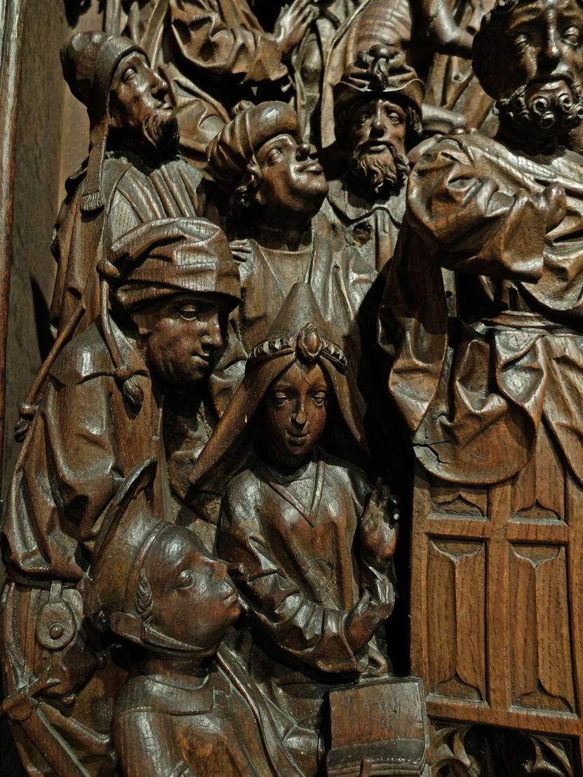 Eastern Netherlands (Duchy of Gelre), Altarpiece with scenes from Peters legend, c. 1500-1510. Stripped oak (c) Suermondt-Ludwig-Museum Aken