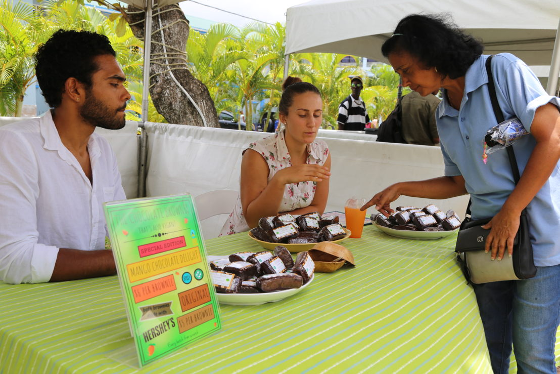 Saint Lucia Mango Festival - stand of brownies
