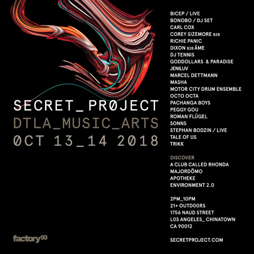 Secret Project Comes To Chinatown Los Angeles October 13 and 14