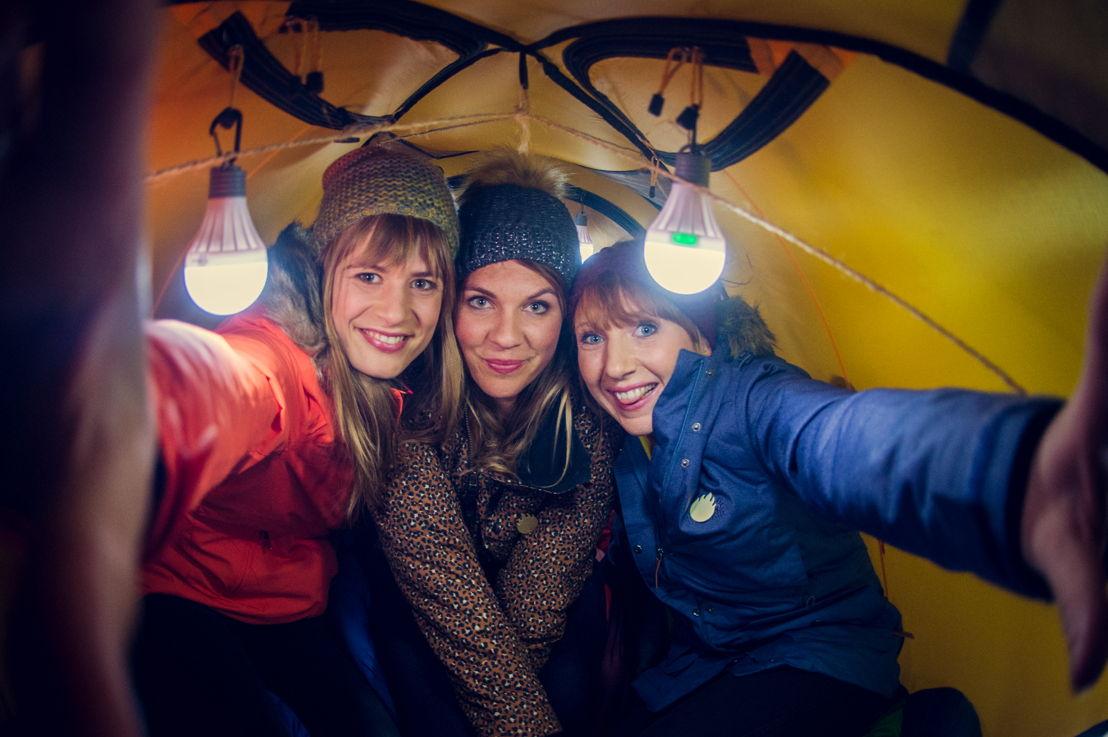 Eva De Roo, Siska Schoeters en Linde Merckpoel (c) VRT/Jokko
