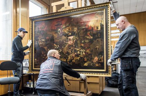 La Dulle Griet du Musée Mayer van den Bergh d'Anvers retrouve ses couleurs après restauration et étude par l'Institut royal du Patrimoine artistique (IRPA)