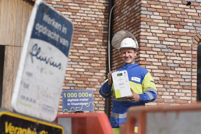 Preview: Fluvius plaatst 1 miljoenste digitale meter in Vlaanderen