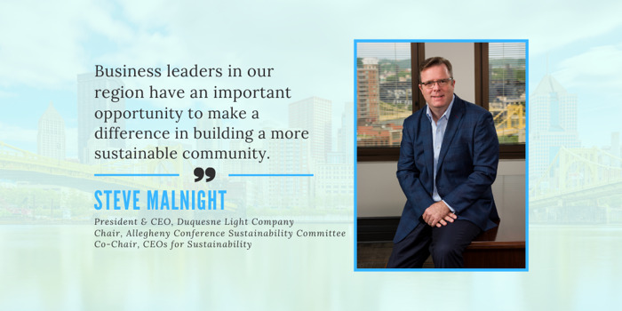 Duquesne Light CEO Steve Malnight to Champion Sustainability in Pittsburgh Region