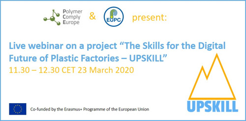 "Live webinar on a project ""The Skills for the Digital Future of Plastic Factories – UPSKILL"""