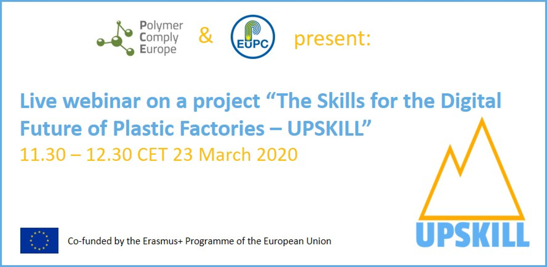 """Live webinar on a project """"The Skills for the Digital Future of Plastic Factories – UPSKILL"""""""