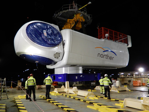 Largest Belgian offshore wind farm Norther begins installing 44 wind turbines on the North Sea