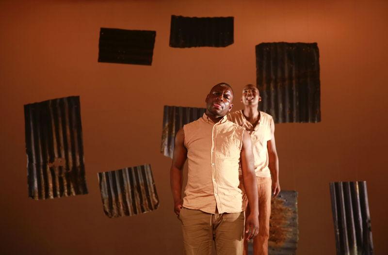 Bongani Dyalivana and Eric Menyo in Phefumla/To Breathe. Image by Nardus Engelbrecht