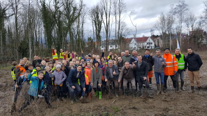 Kinderen helpen 10.000 bomen planten in het Zeen in Sterrebeek