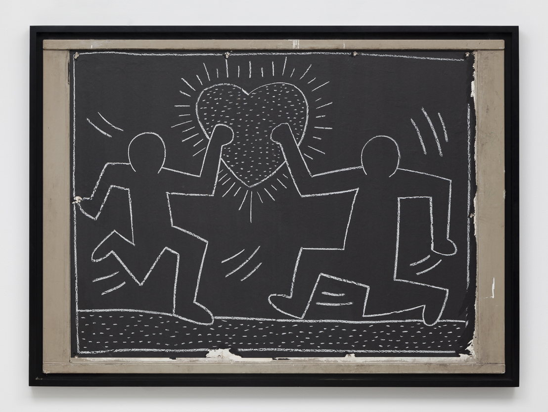 """Untitled Subway Drawing"" (1981-1985) by Keith Haring"
