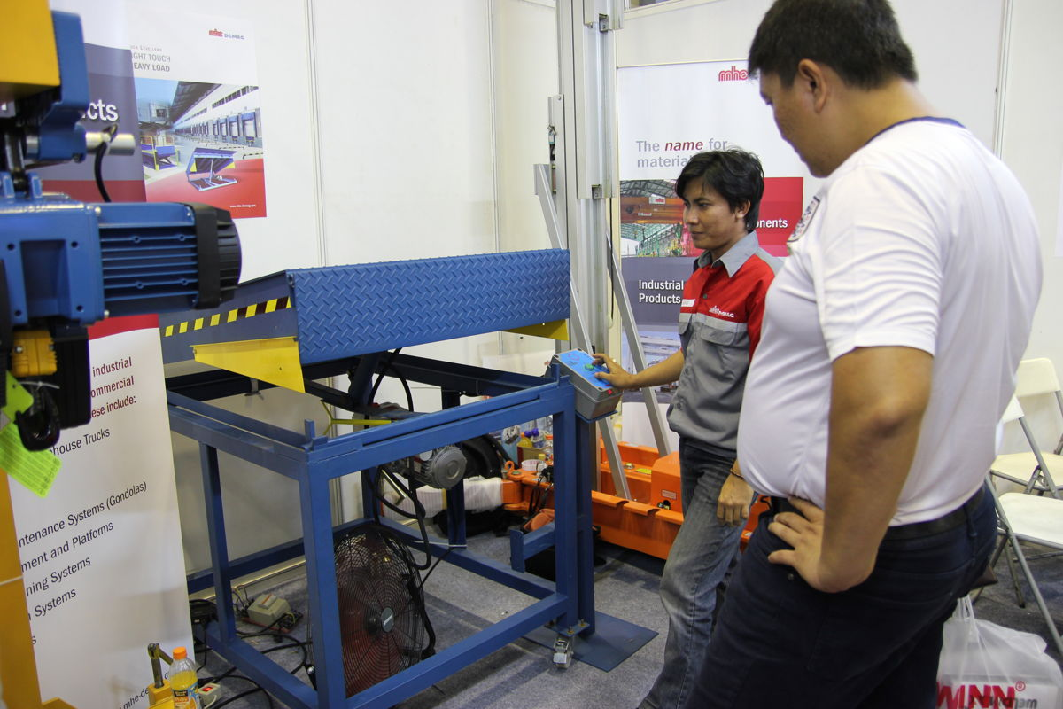The team performs a live product demonstration.