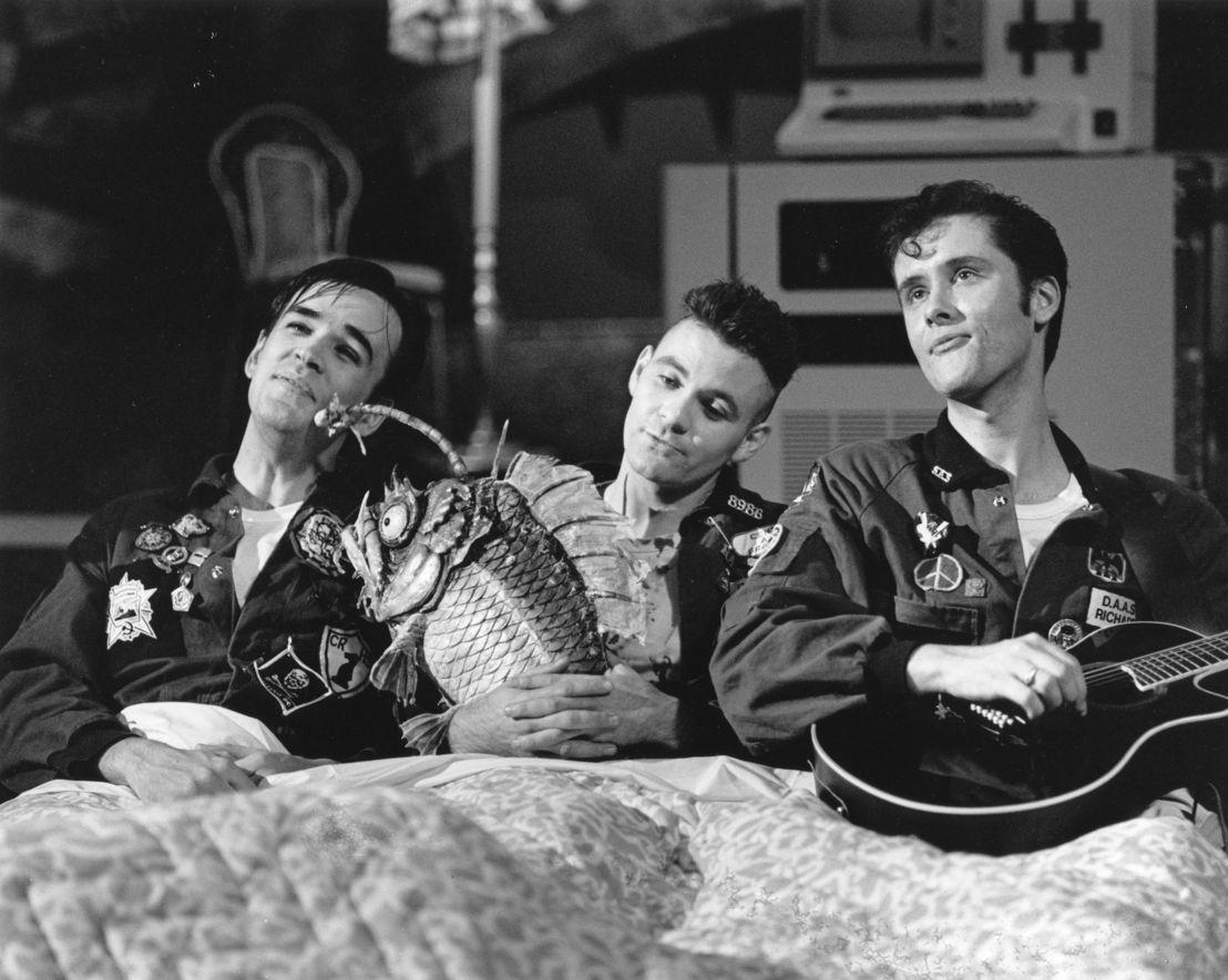 Tim, Paul & Richard on the set of DAAS KAPTIAL