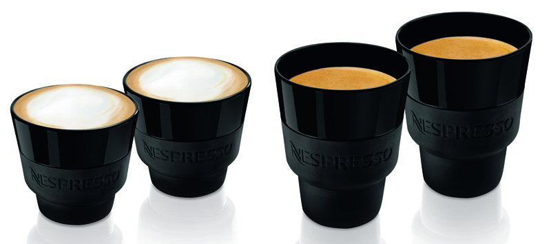 Nespresso Touch – set cappuccino 19 €. – set Lungo : 18 €.