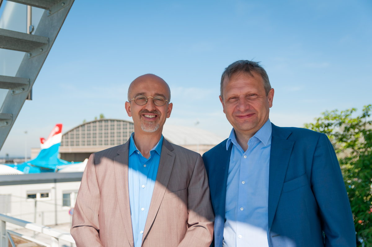 ANA Lux Director Claudio Clori and skeyes CEO Johan Decuyper