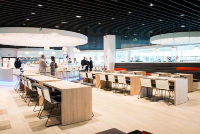 Comfort, technology, design and Belgian gastronomy