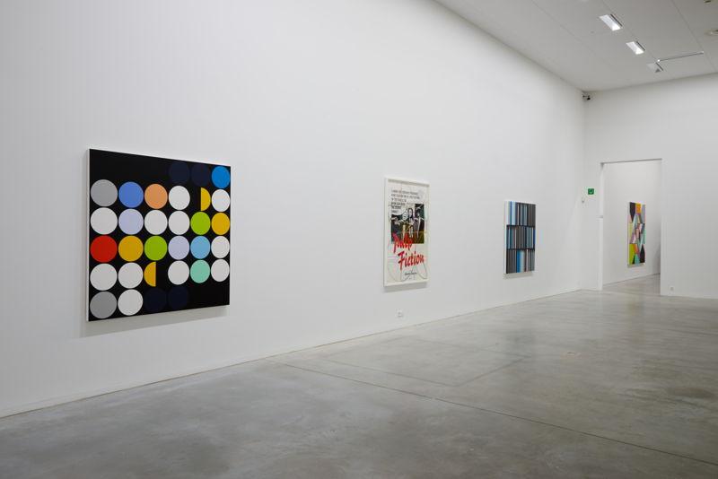From left to right: Sarah Morris. January 2014 [Rio] (2014), Pulp Fiction (2013), Banco Alliança [Rio] (2013)<br/>(c) Dirk Pauwels