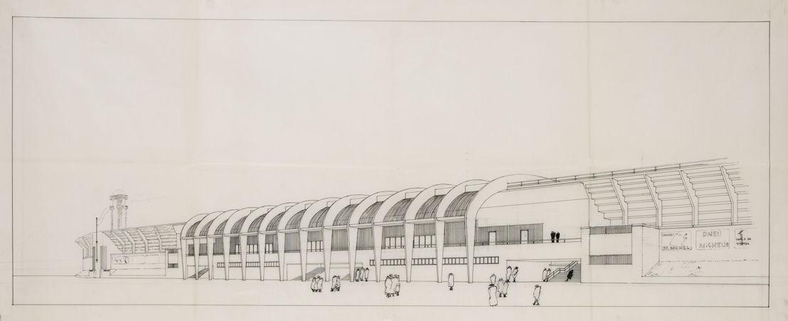 Henry van de Velde (1863-1957) :Project stadion in Antwerpen Linkeroever, oktober 1933<br/>© Archieven Moderne Architectuur