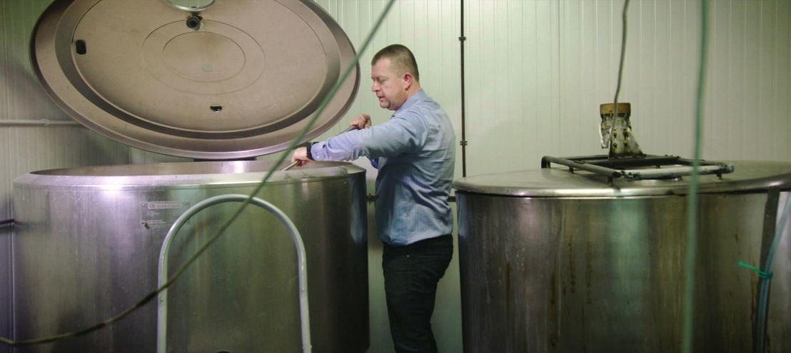 Gino Vantieghem in brouwerij - (c) Borgerhoff & Lamberigts