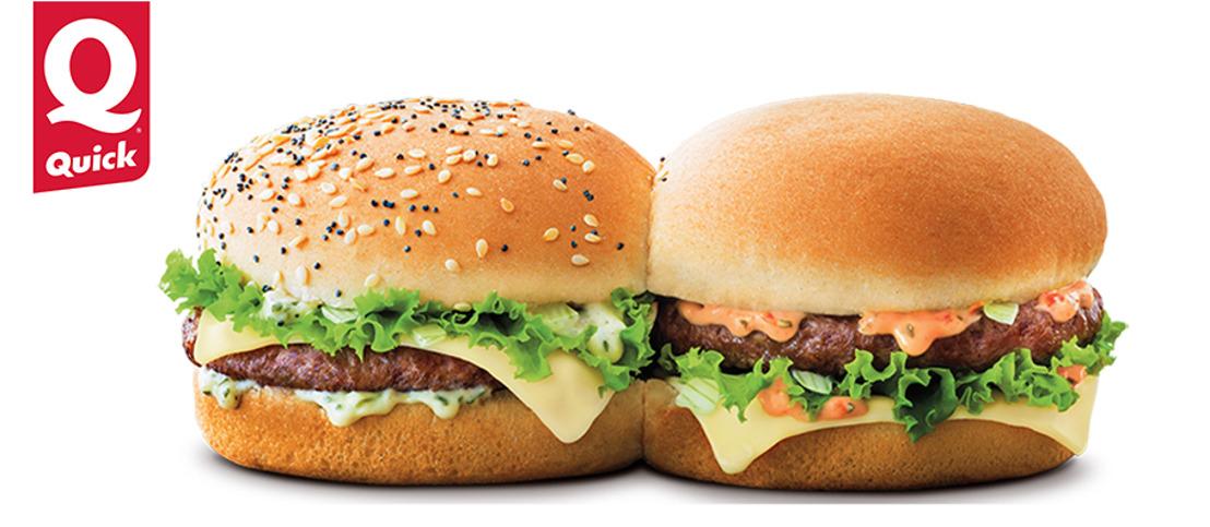 De Twin Beef van Quick. Eén burger, twee karakters!