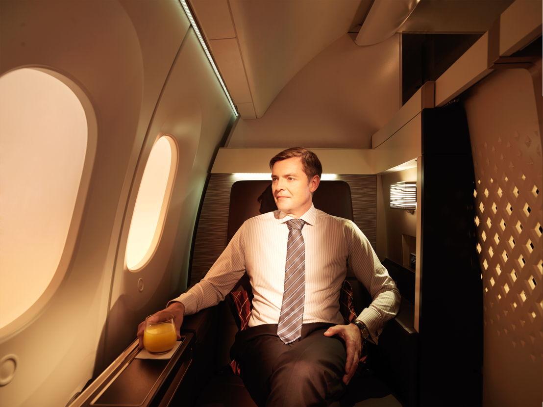 First Suite aan boord van de Boeing 787-9.