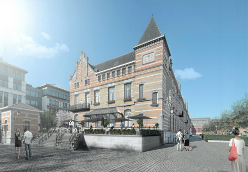Planning permit for a hotel in 'Hôtel des Douanes' on Tour & Taxis