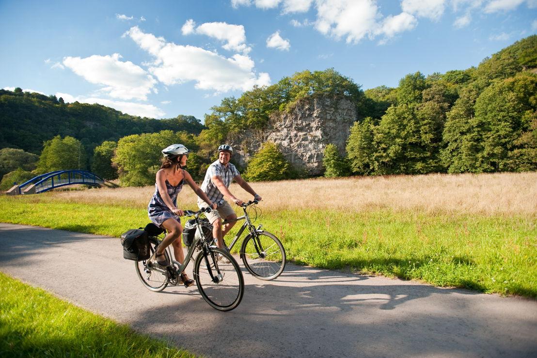 Fietsers op het fietspad Nahe (c) Dominik Ketz