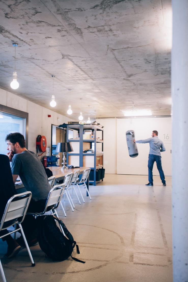 Inspanning en ontspanning in coworkingspace De Winkelhaak in Antwerpen