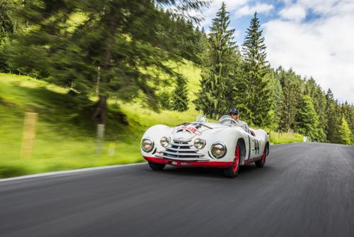 Former Formula 1 driver and Le Mans winner Hans-Joachim Stuck drives ŠKODA Sport from 1950