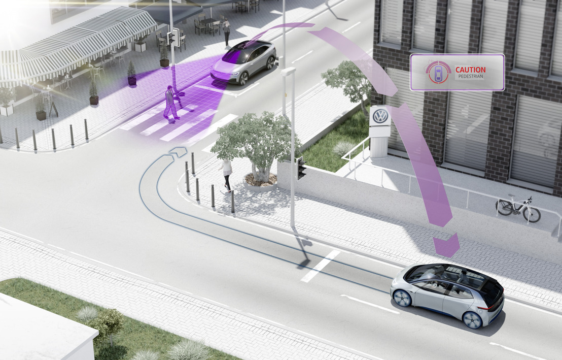 Vanaf 2019 zal Volkswagen voertuigen onderling laten communiceren voor meer veiligheid
