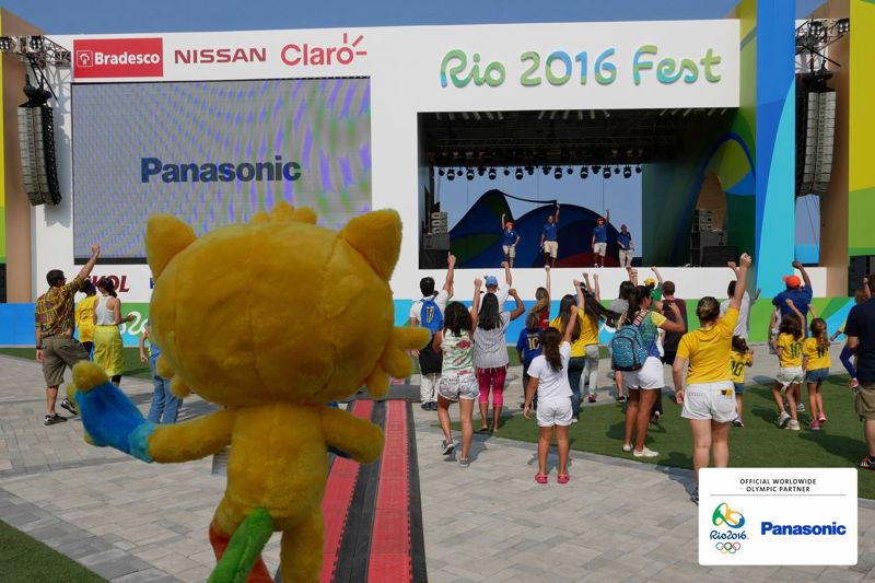 Panasonic @ JJOO Rio 2016 Pantalla LED en Zona Aficionados