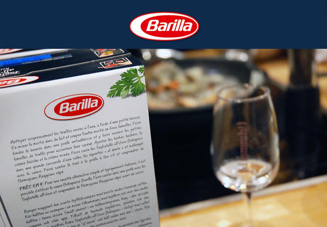 Barilla s'invite dans votre assiette pour les fêtes