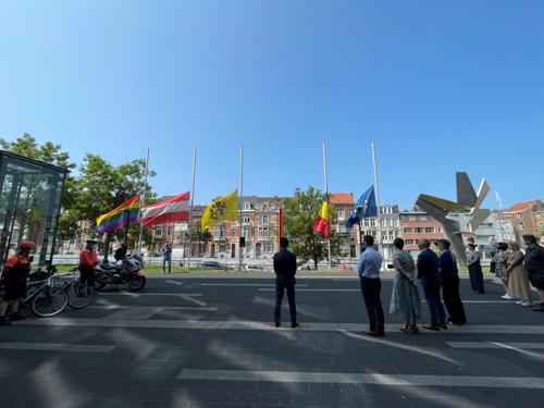Leuven hield minuut stilte op Dag van Nationale Rouw