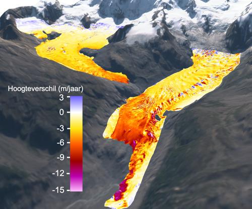Gletsjers smelten steeds sneller