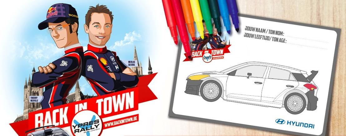 Les enfants vont pouvoir réaliser la décoration de la i20 R5 de Thierry Neuville et Nicolas Gilsoul au Rallye d'Ypres