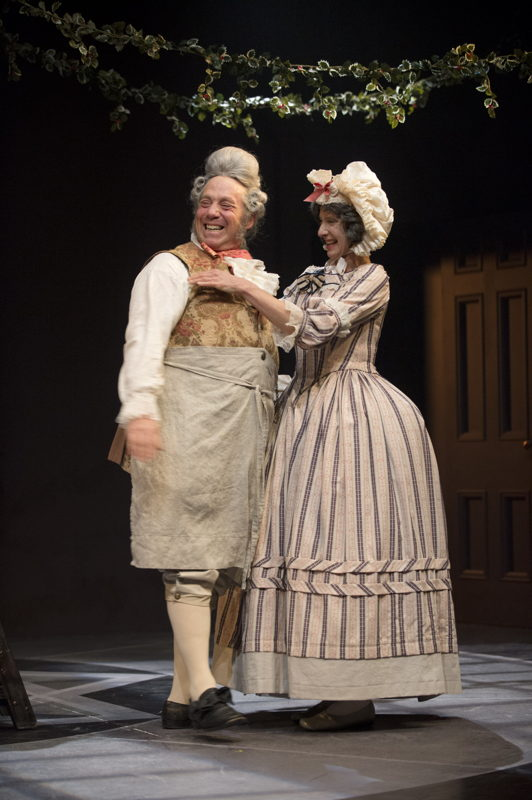 Featuring (L to R): Brian Linds (Mr. Fezziwig) and Jan Wood (Mrs. Fezziwig) in A Christmas Carol / Photos by David Cooper
