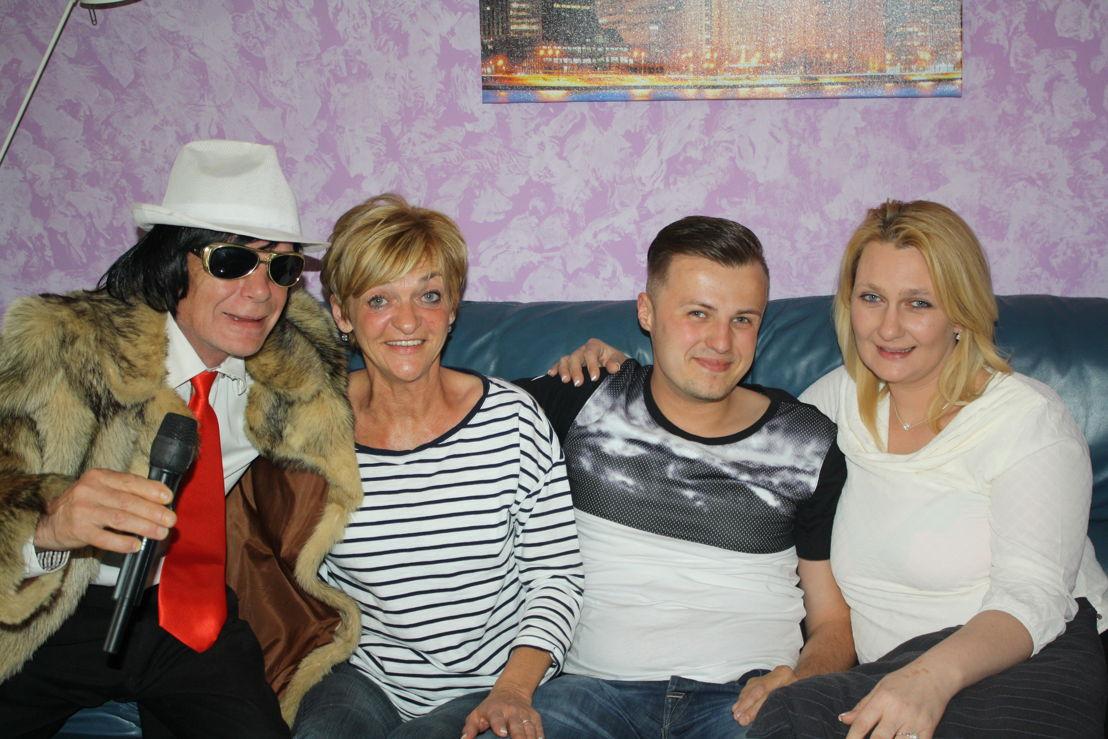 André, Myriam, Kenny en Vanessa