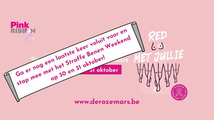 Pink Ribbon en Wandelknooppunt organiseren Straffe Benen Weekend