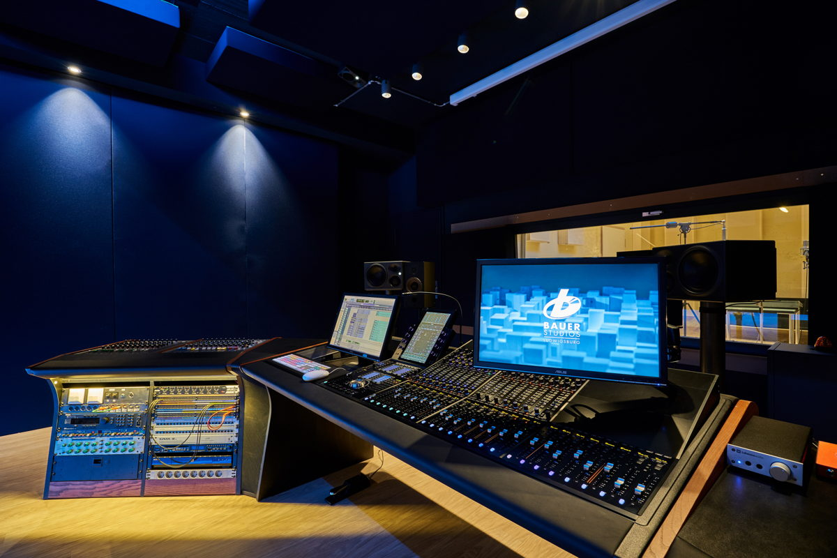 The redesigned Studio 2 is equipped with an Avid S6 console, which also serves as the monitor controller for the 5.1.4 or 7.1.4 setup. (Photo: Bauer Studios)
