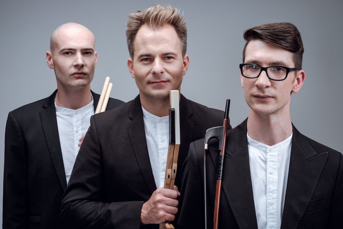 Baroqueswing,From left to right:<br/>Hugo Radyn (drums), Charl du Plessis (piano) and Werner Spies (bass). Photo by BERNARD BRAND.