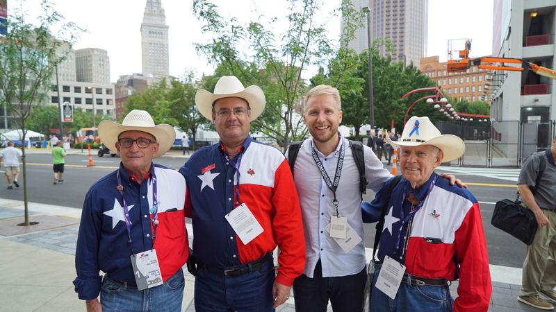Reporter Hamish Macdonald with Texan Republicans