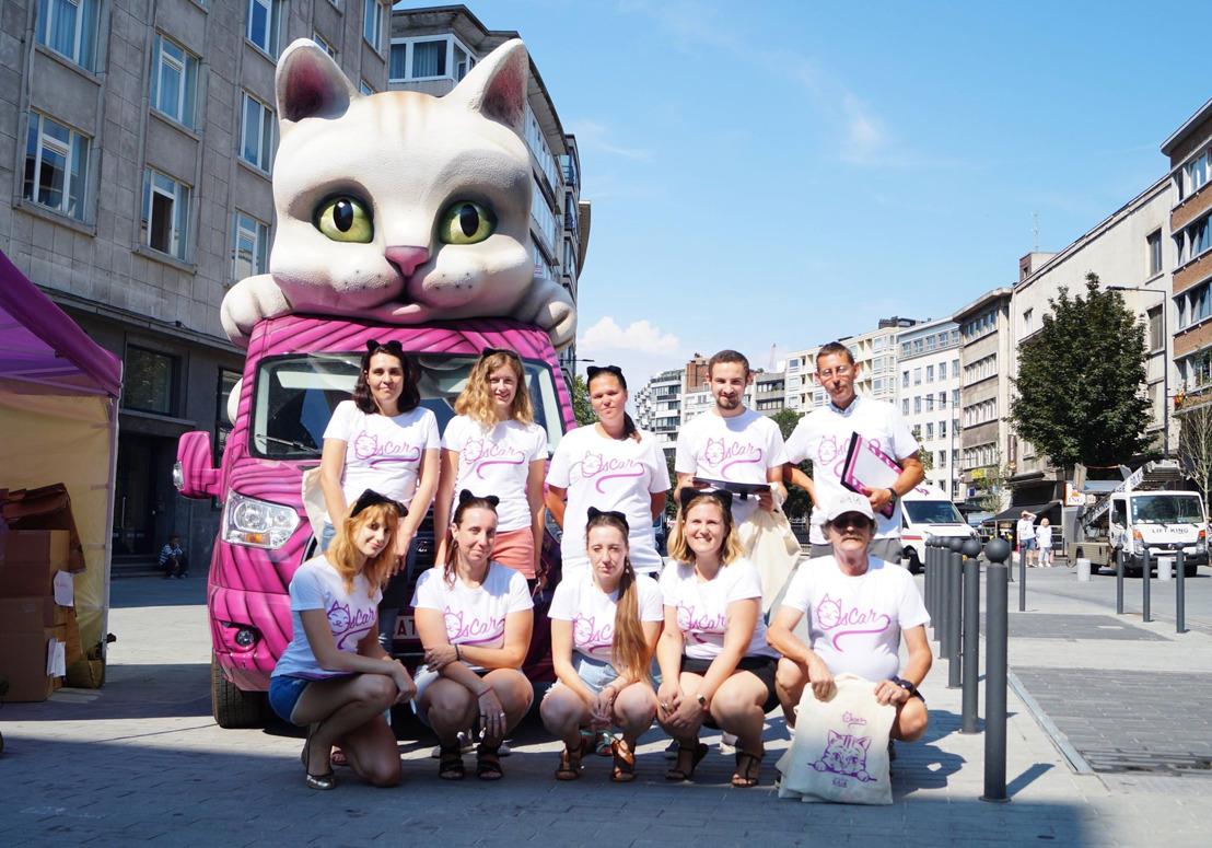 Tournée d'été de GAIA : la « catmobile » a fait étape ce vendredi à Charleroi