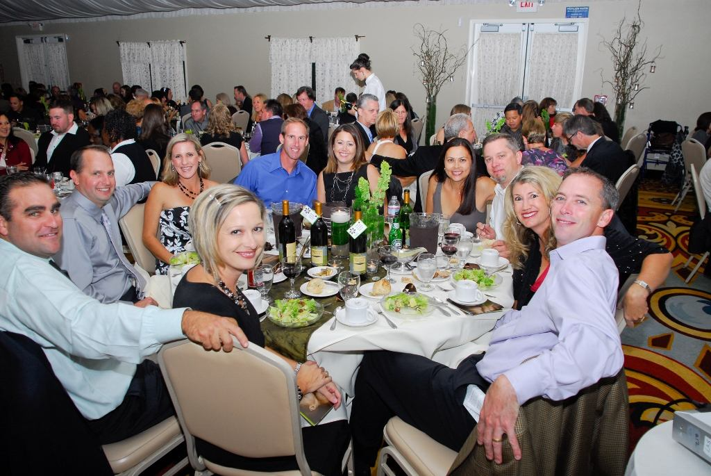 Guests enjoy a fine dinner at the Lake Natoma Inn at the Celebration of Miracles fund raising gala.