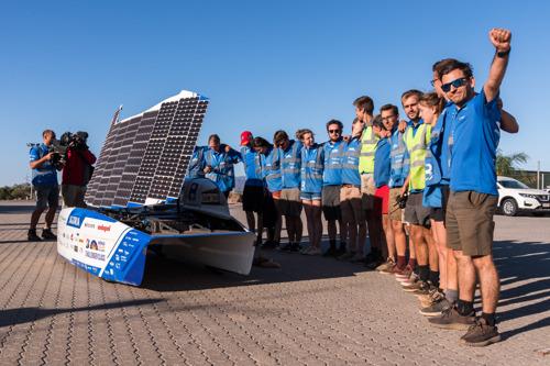 Wind stuwt Belgisch Solar Team richting goud op het wereldkampioenschap