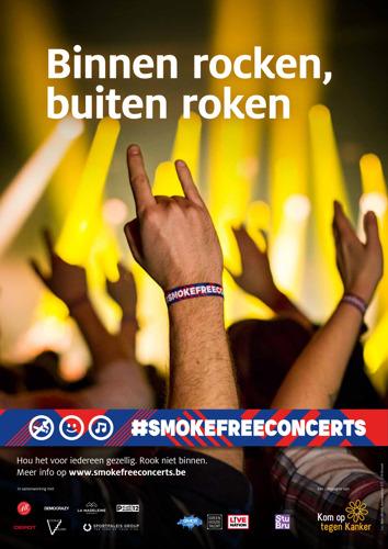 FamousGrey en Kom op tegen Kanker lanceren #smokefreeconcerts