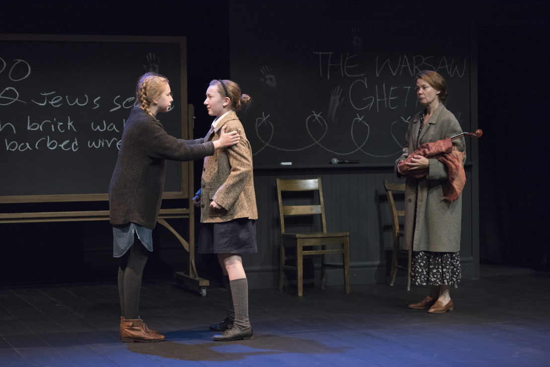 Lily Cave, Sophia Irene Coopman, and Kerry Sandomirsky in The Children's Republic by Hannah Moscovitch / Photos by David Cooper