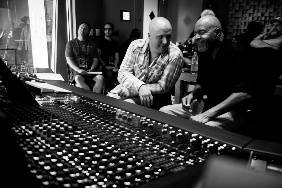 Producer/Engineer Mark Hornsby (L) and Chester Thompson (R) (©Erick Anderson Photography)