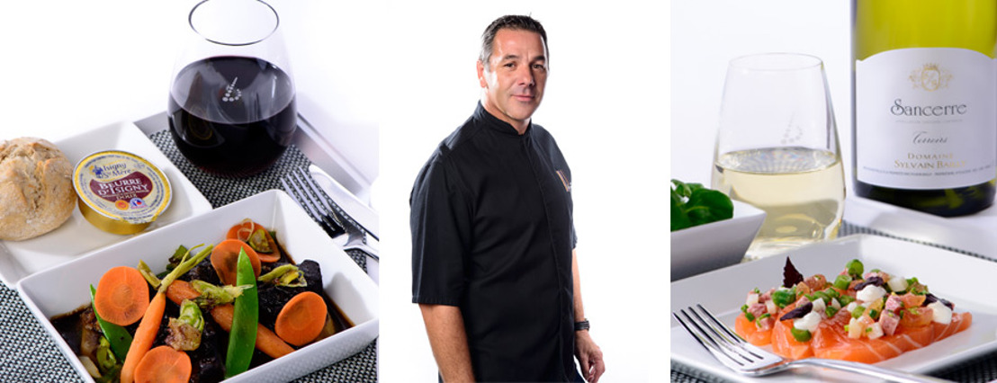 Namur top chef Pierre Résimont creates menus for Brussels Airlines