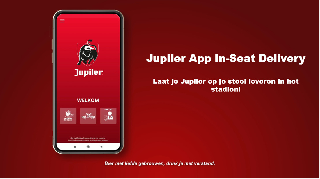 Primeur in Belgisch voetbal: covid-proof bediening op je zitplaats dankzij Jupiler App