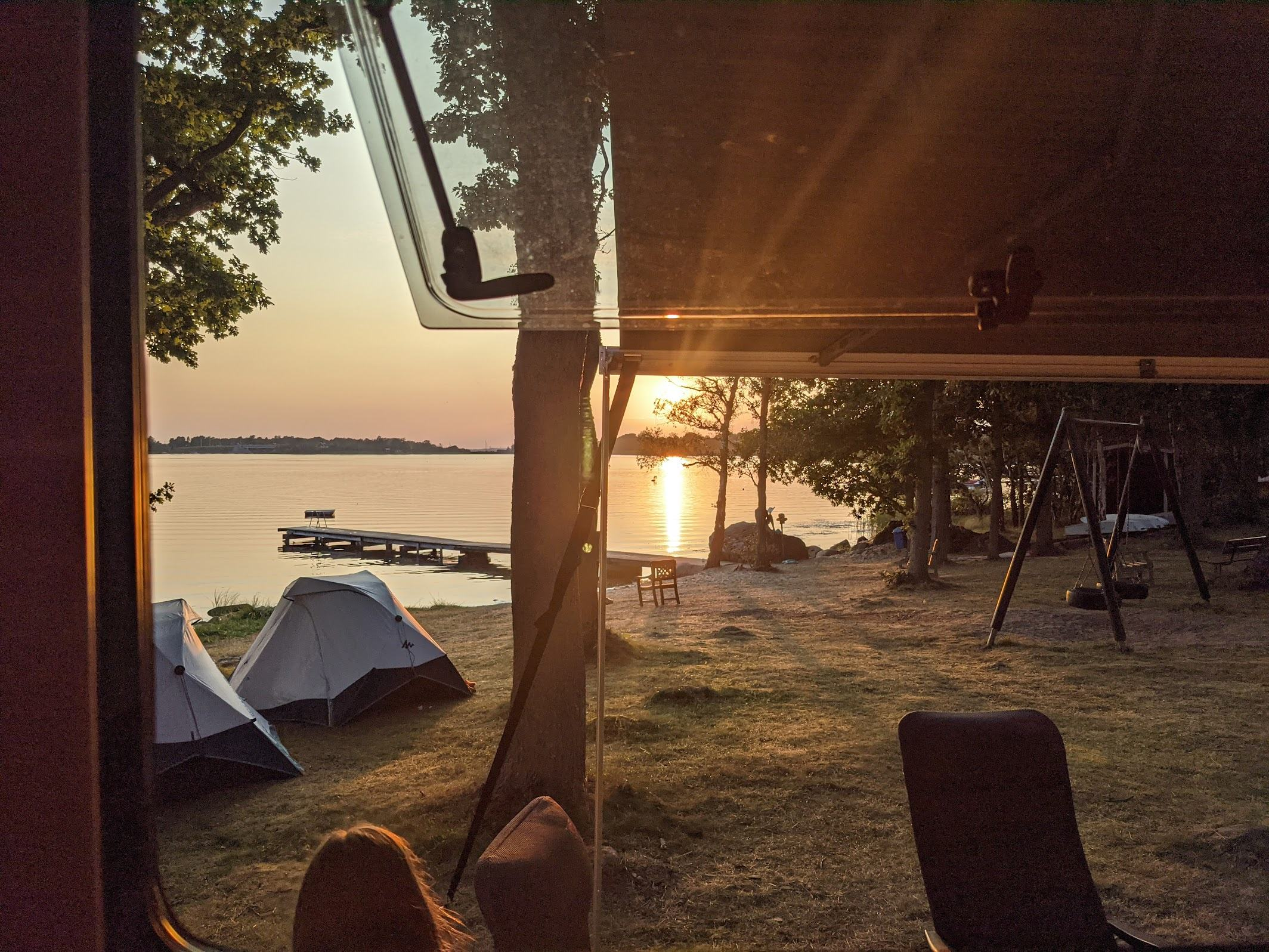 View from the camper